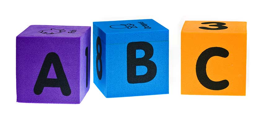 School workshops alphabet blocks